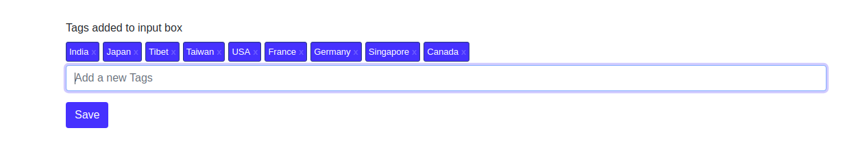 Adding Multiple tags select using Tag Manager JQuery Plugin