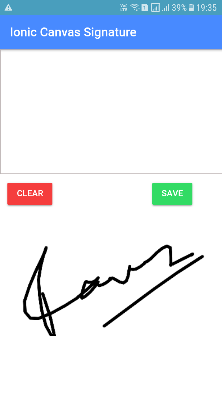 Ionic Signature drawing without 3rd party plugin - Edupala