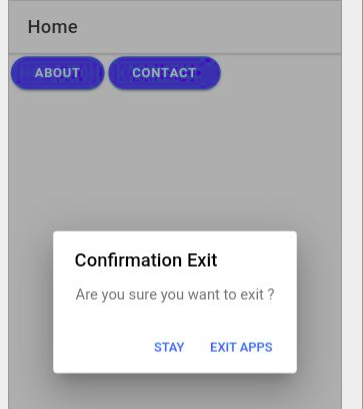 Ionic back button exit confirm