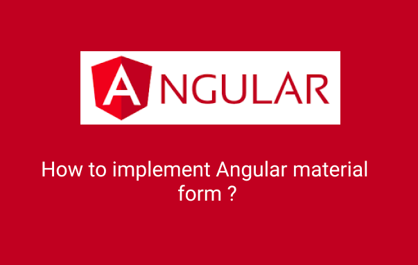 Angular material form example