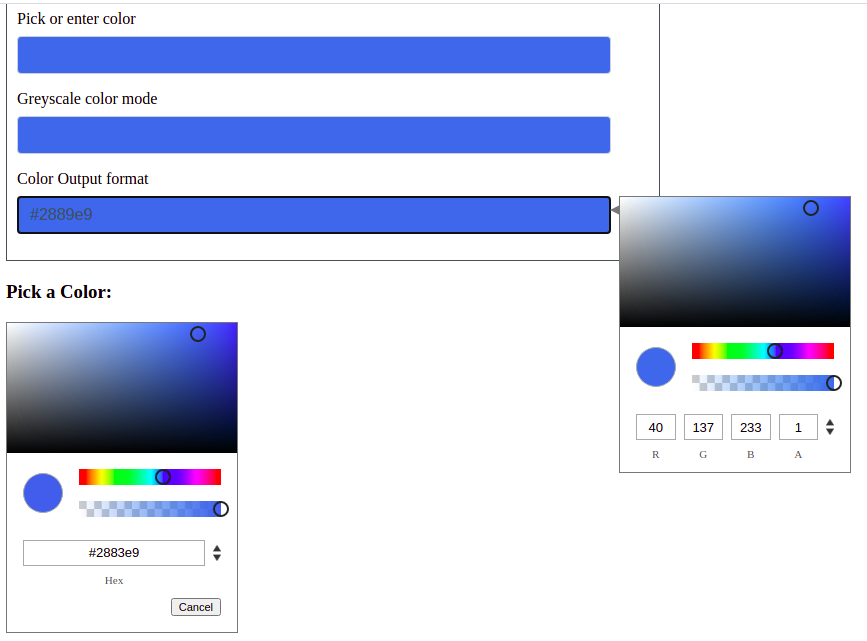 ngx-color-picker example
